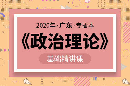 2020年广东专插本政治理论基础精讲课(预售)