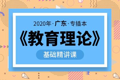 2020年广东专插本教育理论基础精讲课(预售)