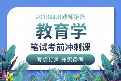 2019年四川教师招聘教育学笔试考前冲刺课