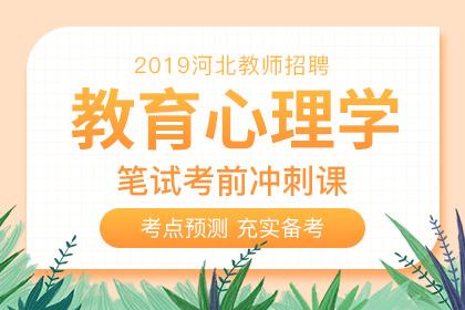 2019年河北教师招聘教育心理学考前冲刺课
