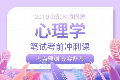 2019年山东教师招聘心理学考前冲刺课