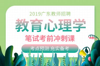 2019年广东教师招聘教育心理学笔试考前冲刺课