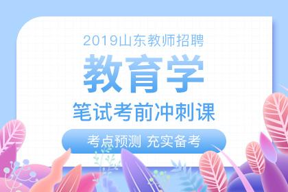 2019年山东教师招聘教育学考前冲刺课