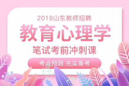 2019年山东教师招聘教育心理学笔试考前冲刺课