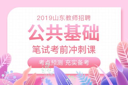 2019年山东教师招聘公共基础考前冲刺课