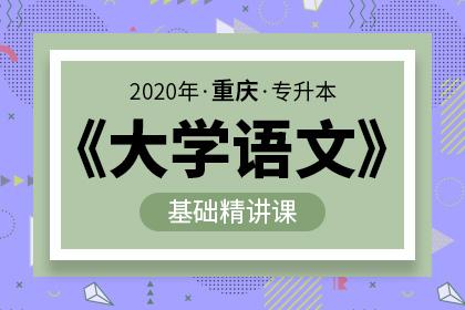 2020年重庆专升本大学语文基础精讲(预售)