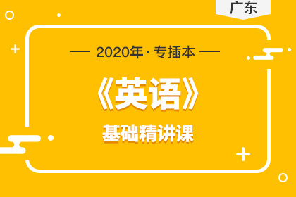 2020年广东专插本英语基础精讲课