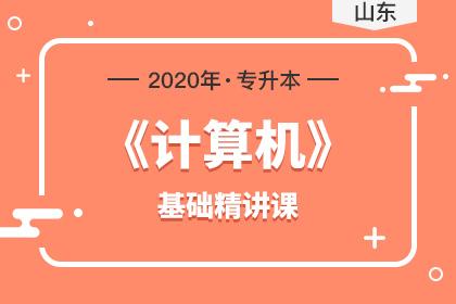 2020年山东专升本计算机基础精讲课(预售)