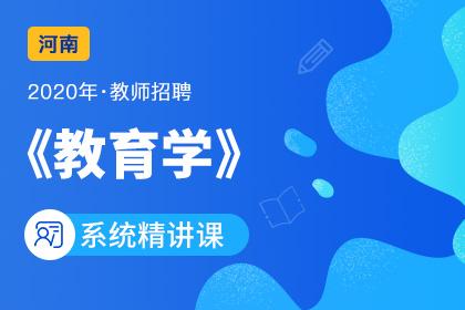 2020年河南教师招聘教育学系统精讲课(更新中)