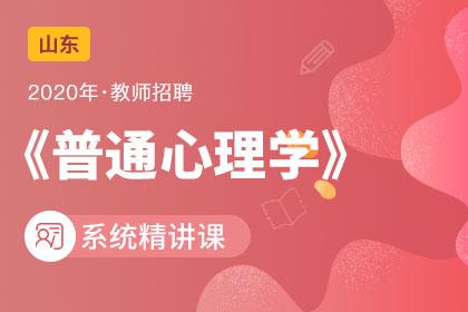 2020年山东教师招聘普通心理学系统精讲课