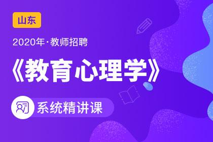 2020年山东教师招聘教育心理学系统精讲课