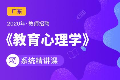 2020年广东教师招聘教育心理学系统精讲课