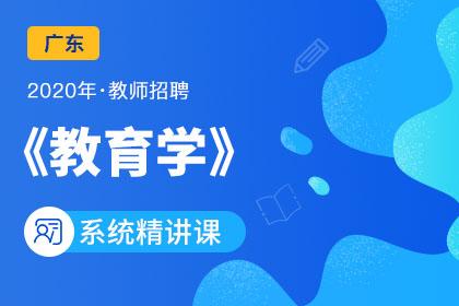 2020年广东教师招聘教育学系统精讲课