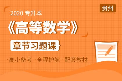 2020年贵州专升本《高等数学》章节习题课