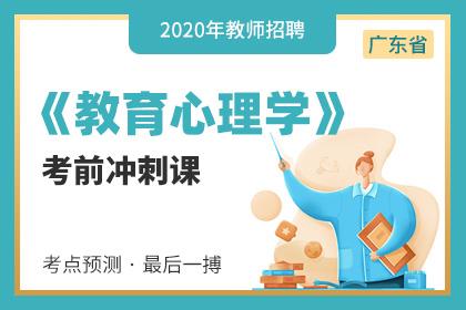 2020年广东教师招聘教育心理学笔试考前冲刺课