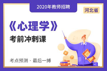 2020年河北教师招聘普通心理学考前冲刺课