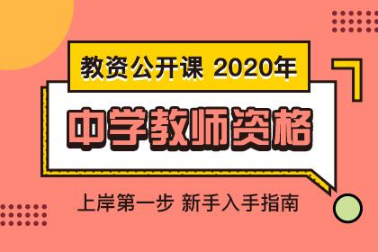 2020年教师资格考试中学公开课