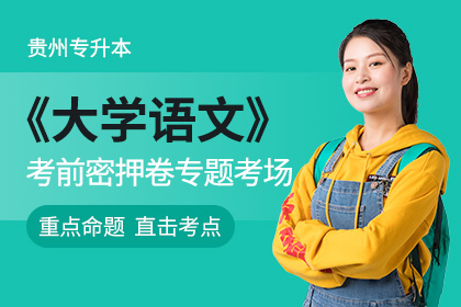 贵州省专升本《大学语文》考前密押卷专题考场