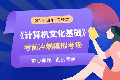2020年山东专升本计算机文化基础考前冲刺模拟考场
