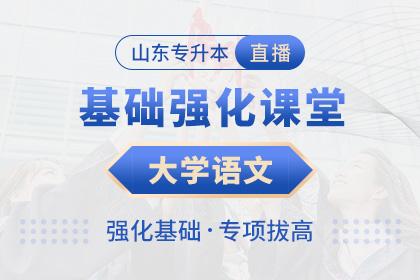 山东AG国际网站大学语文基础强化课堂·互动直播